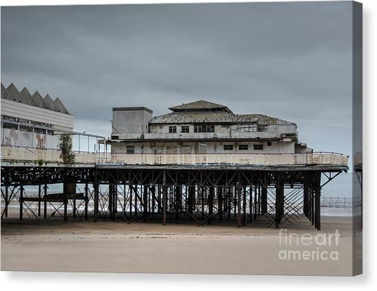 Colwyn Bay Canvas Print - Victoria Pier by Mickey At Rawshutterbug
