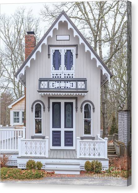 Cottage Style Canvas Print - Victorian Cottage On Cape Cod by Edward Fielding