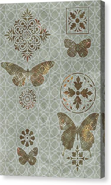 Quilts Canvas Print - Victorian Deco Sage by JQ Licensing
