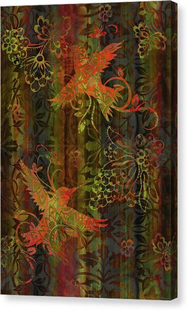 Humming Bird Canvas Print - Victorian Humming Bird 3 by JQ Licensing