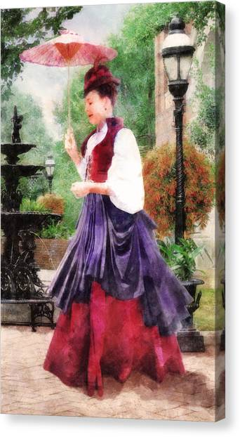 Victorian Lady Canvas Print
