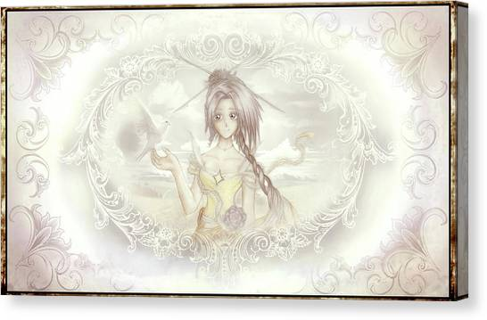 Canvas Print featuring the mixed media Victorian Princess Altiana by Shawn Dall