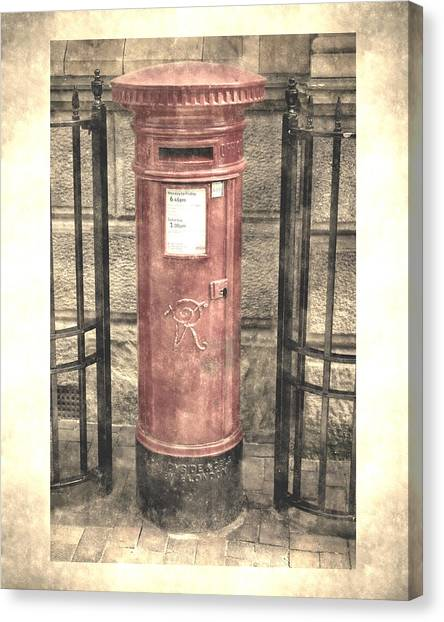 Victorian Red Post Box Canvas Print