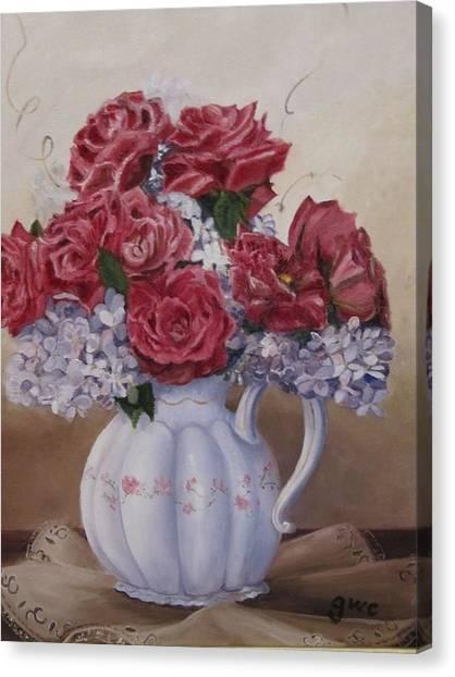 Victorian Rose Canvas Print by Gloria Condon