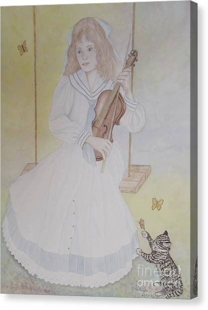 Victoria's Violin Canvas Print by Patti Lennox