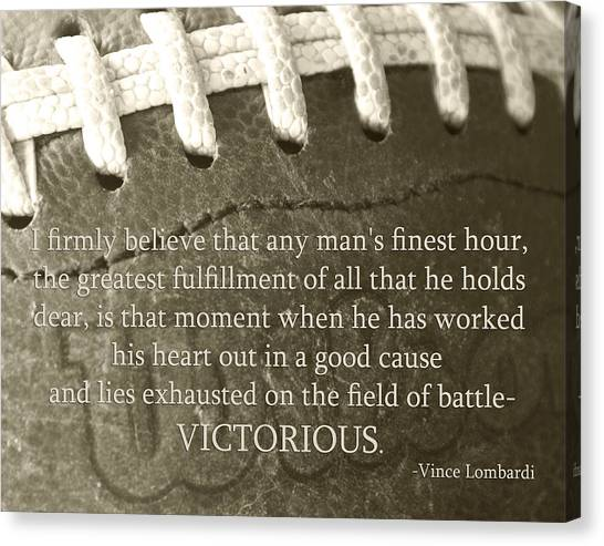 Win Canvas Print - Victorious by Robin Hall