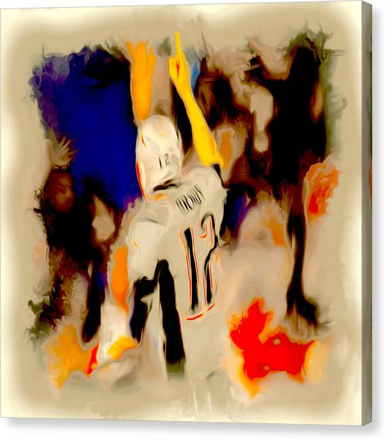 John Elway Canvas Print - Victorous Tom Brady by Brian Reaves