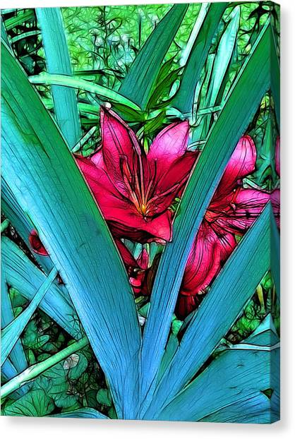 Lilies Canvas Print - Victory Garden by Nick Heap