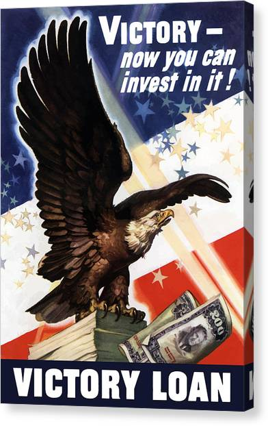 Bald Eagle Canvas Print - Victory Loan Bald Eagle by War Is Hell Store