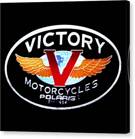 Canvas Print - Victory Motorcycles Emblem by Bill Cannon