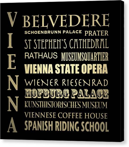 Vienna Austria Famous Landmarks Canvas Print