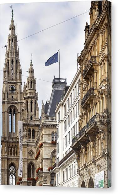 Vienna City Hall Canvas Print by Andre Goncalves