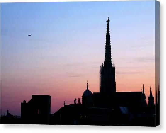 Vienna City Silhouette Canvas Print
