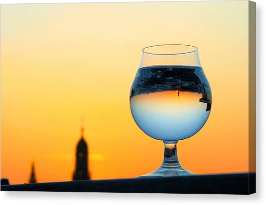 Vienna - Sunset In A Glass Canvas Print