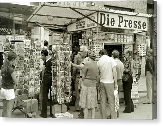 Viennese Newspaper Stand Canvas Print