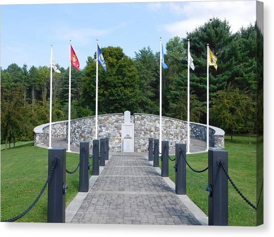 Vietnam Memorial In Vermont Canvas Print