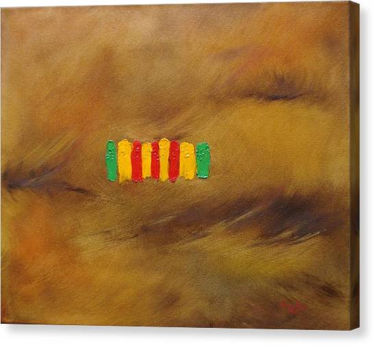 D.c. United Canvas Print - Vietnam Service Ribbon by Judith Rhue
