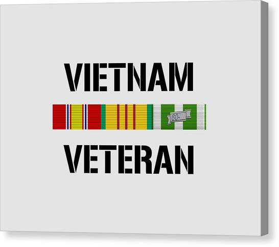 Vietnam War Canvas Print - Vietnam Veteran Ribbon Bar - Two by War Is Hell Store