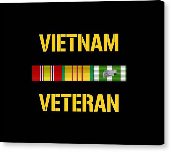 Vietnam War Canvas Print - Vietnam Veteran Ribbon Bar  by War Is Hell Store