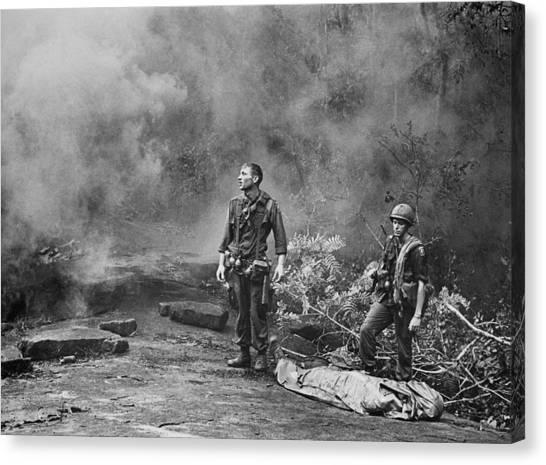 Vietnam War  Two American Gis Standing by Everett
