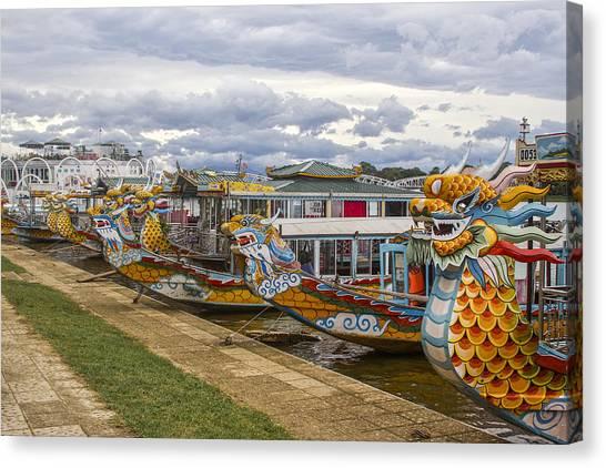 Vietnamese Dragon Boats Canvas Print