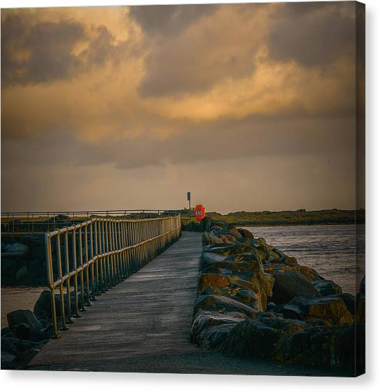 Canvas Print featuring the photograph View At Staffin 1 #g9 by Leif Sohlman