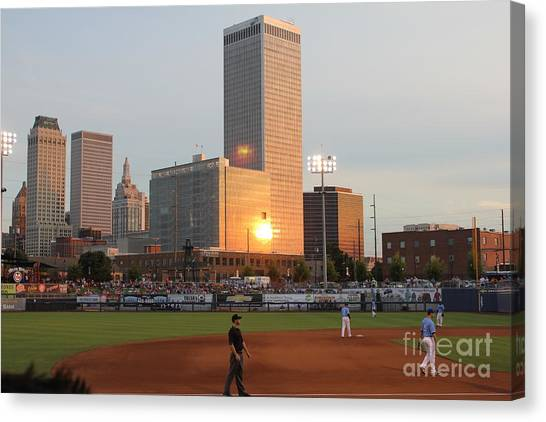View From 3rd Base Canvas Print