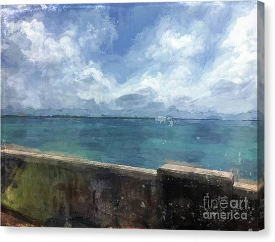 Carribbean Canvas Print - View From Bermuda Naval Fort by Luther Fine Art