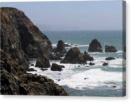 View From Bodega Head In Bodega Bay Ca - 4 Canvas Print