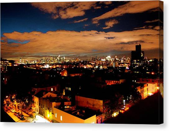 View From Brooklyn  Canvas Print by Brian  Vitagliano