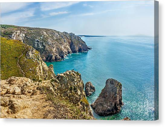 View From Cabo Da Roca - The Western Point Of Continental Europe Canvas Print by Dragomir Nikolov
