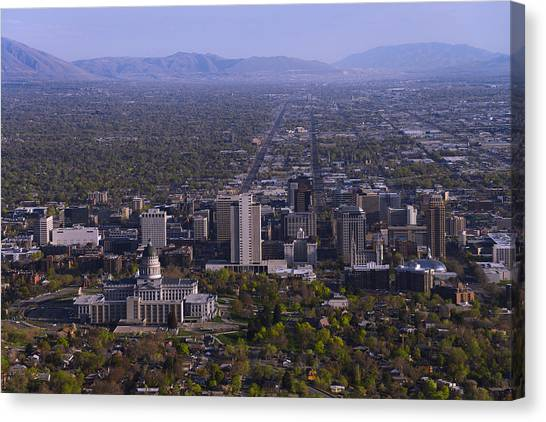 Mountain Canvas Print - View From Ensign by Chad Dutson