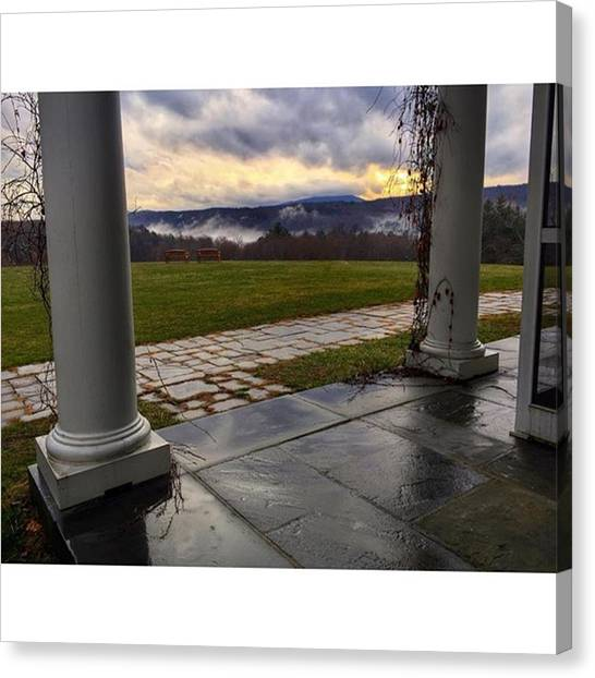 Appalachian Mountains Canvas Print - View From Fdr's Mansion  #fdr by Blake Butler