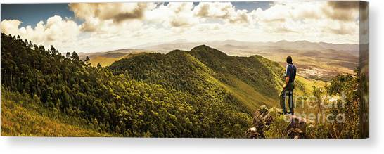 Exercise Canvas Print - View From Halfway Up Mount Zeehan by Jorgo Photography - Wall Art Gallery