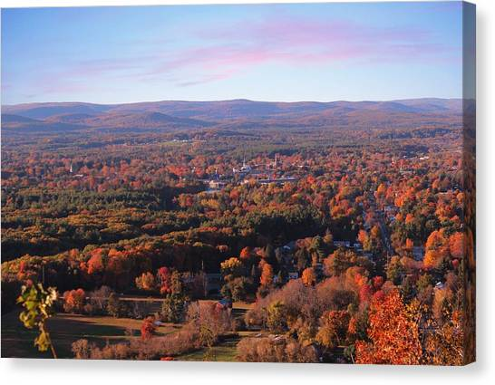 View From Mount Tom In Easthampton, Ma Canvas Print