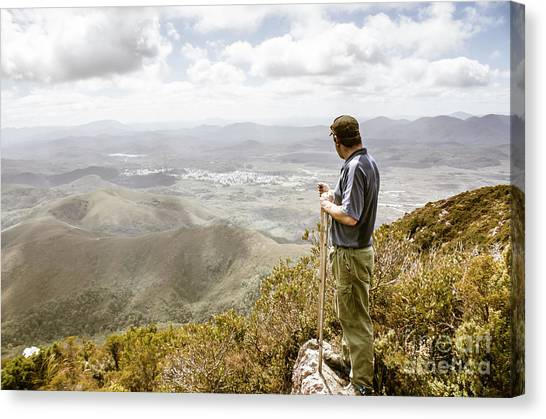 Tourist Canvas Print - View From Mt Zeehan Tasmania by Jorgo Photography - Wall Art Gallery