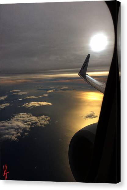 View From Plane  Canvas Print