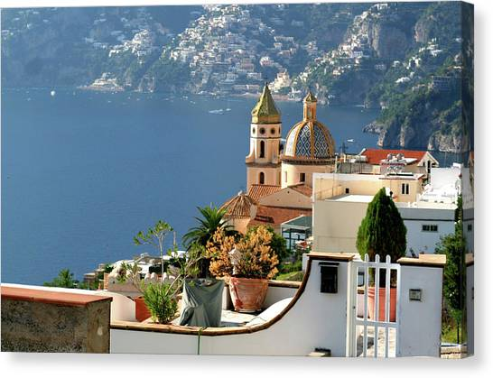 View From Praiano To Positano Canvas Print