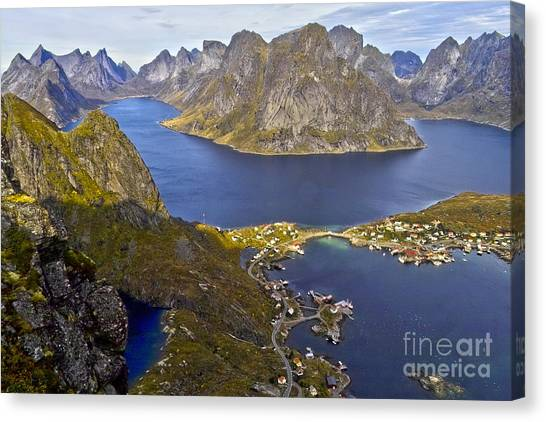 View From Reinebringen Canvas Print