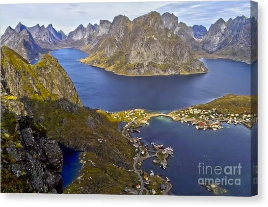 View From Reinebringen Canvas Print