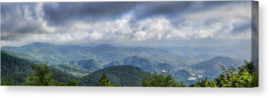 Pisgah National Forest Canvas Print - View From Roan Mountain by Heather Applegate
