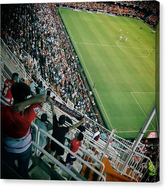Vertigo Canvas Print - View From The Away End. In With The 50 by Paul Collins