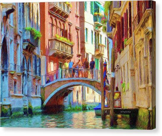 View From The Canal Canvas Print