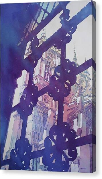 Westminster Abbey Canvas Print - View From The Cloister by Jenny Armitage