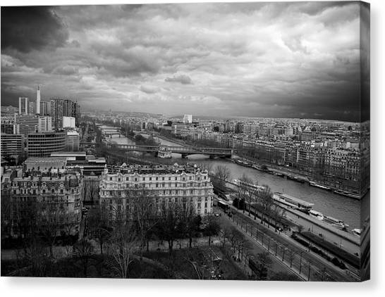 View From The Eiffel Tower Canvas Print