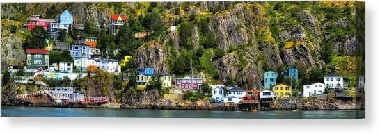 View From The Harbor St Johns Newfoundland Canada Canvas Print