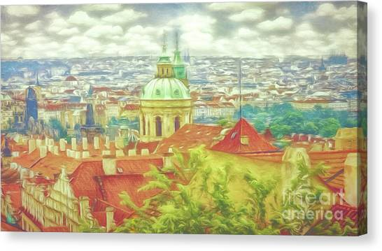 View From The High Ground - Prague  Canvas Print