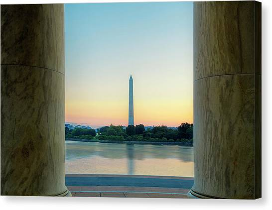 Jefferson Memorial Canvas Print - View From The Jefferson Memorial by Andrew Soundarajan
