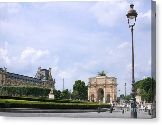 Le Louvre Canvas Print - View From The Louvre by Angela Rath