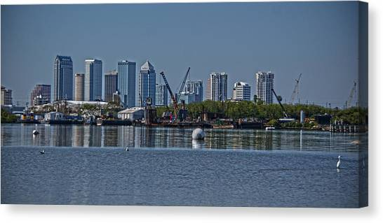 View From The Port Canvas Print by Chauncy Holmes
